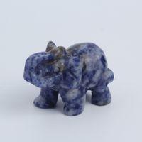 Wholesale Elephant Figurines - Epidote Quartz crystal elephant Figurine Carving Stone Longevity Chakra Healing Reiki Stones Carved Craft crystal elephant Free Shipping