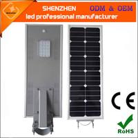 Wholesale solar 18v - 18v 60w 70w 80w All in one integrated solar street light with motion sensor wireless solar powered light industry street lighting