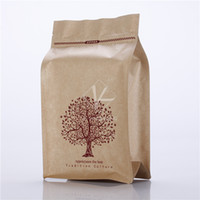 Wholesale Pet Papers - 5 pcs 18x30cm Flat Bottom Brown Paper Bags   Pet Food Packaging   Colored Zip Lock Bags Bolsas De Papel