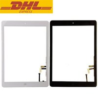 Wholesale Ipad Glass Home - Ipad Air Touch Screen Glass Panel Digitizer With Home Button Adhesive Assmenly For Ipad 5 Ipad5 9.7inch Screen Replacement