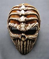 Wholesale Horror Film Face Masks - Ghost Rider Skeleton Masks Halloween Horror Demon Mask Protective Helmet Special Skull Glass Reinforced Plastic Free Shipping