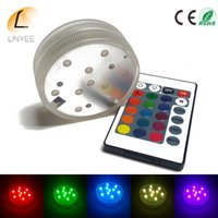 RGB LED Underwater Light Batterie à eau imperméable à la piscine LED LED submersible pour Party Piscina Pond + 24key control