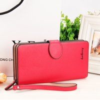 Al por mayor- Baellerry Mujeres Monedero Business Fashion Monedero Long Zipper Señora Clutch de gran capacidad Titulares de tarjetas Red Solid envío gratuito