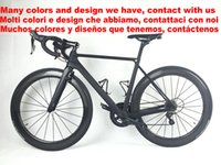 Wholesale Complete Road - 80 colors White Team Sky BOB Full Carbon Road complete Bike Bicycle With 5800 R8000 Groupset For Sale