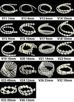 Wholesale Roll Pearl String - V21-V36 1M Length Ivory Artificial String Pearl Rolls Chain lasscial Pearls Chain Charm Garland Decor DIY Jewelry Making Materials