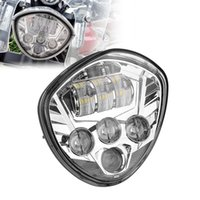 Wholesale Victory Cross - Motos Accessories Chrome 60W Victory Motorcycle LED Headlight Lamps for 2007-2015 Cross Country Tour Cross Roads L012