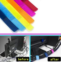 Wholesale Wholesale Computer Cables Organizer - High Quality Magic PC TV Computer Wire Cable Ties Organizer Maker Holder Management Straps tie Magic Tape Cable winder