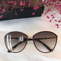 Wholesale Tom New Cat - Women Tom 0320 PENELOPE Sunglasses shiny rose gold gradient brown Gradient Lenes Fashion Brand Sunglasses new with box