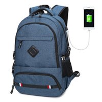 ports macbook Australia - Business Water Resistant Polyester Laptop Backpack,Casual Schoolbag for Men with USB Charging Port for 15.6 inch Laptop & Notebook