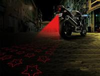12v sis lambaları motosikleti açtı toptan satış-12V Motosiklet Önlemek Arkadan Sis Farları LED Lazer Uyarı Işıkları