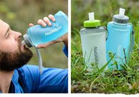 Wholesale Foldable Bottle Bpa - water bottle foldable water bottle portable outdoor sports bottle foldable cup Food grade TPU material BPA free