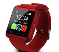 chinesische telefone ios großhandel-2016 Bluetooth U8 Smart Watch Sport läuft Timing IOS Telefon verbunden Armbanduhr verfügbar Englisch und Chinesisch Weiß schwarz Rot choos