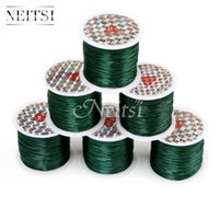 Wholesale thread jewellery for sale - Group buy Neitsi Meters Green Crystal Beads Lines Elastic Cord Stretchy String Jewellery Cord Rolls Polyester Embroidery Sewing Thread