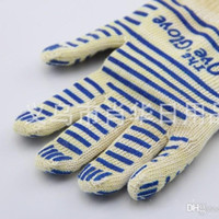 oven mitten wholesale - Anti Scald Gloves High Temperature Resistance Silicone Glove Resuable Microwave Oven Silica Gel Mittens Kitchen Tool For Home xh R