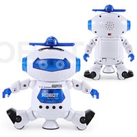 Wholesale Electronics Dance - NEW Dancing Robert Electronic Toys With Music And Lightening Best Gift For Kids Model Toy Fast Free Shipping
