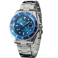 Wholesale Dial Sea Dweller - Fashion Men Automatic Mechanical Dweller Sea Brand Wristwatch Luxury Auto Date Color Dial RO Design Stainless Steel Watches