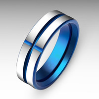 Wholesale Tungsten Solitaire Rings - Solitaire Ring New 925 Sterling Silver Very Cool Ring Fashion Titanium Ring with Cubic Tungsten Cross Ring for Men Free shipping AA11-9