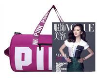 Wholesale Large Designer Handbags Wholesale - New Women Designer Handbags VS Pink Large Capacity Travel Duffel Striped Beach Bag Shoulder Bag Fashion Fitness Yoga Bags Waterproof Totes