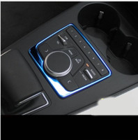 Wholesale Audi Gear Knob - Car styling stainless steel Gear Shift Knob Cover Decoration Sticker Car Console Panel Switch Cover Decorative For Audi A4 2017