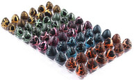 Wholesale Hatching Dinosaur Toy - BlACK 60pcs 2*3CM Magic Hatching Growing Dinosaur Add Water Grow Dino Egg Children Kid Fun Funny Toys Gift Gadget YH143