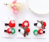 2018 New Christmas Gift Girls Cute Hair Clips Ball Hat Bow Hairpins Lovely Kids Cabelo Ornamento Headband Hair Accessories Set