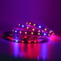 5050 5M / rollo 60led / m Led Plant Grow Strip Light Impermeable / No impermeable cinta de tira flexible luz 5 Rojo 1 Azul acuario planta hidropónica