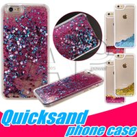 Wholesale Lg Star Cover - Dynamic Liquid Quicksand Stars Phone Cases Hard Cell Phones Back Cover Iphone Glitter Case For Iphone 6plus Samsung Galaxy S7 ON5 ON7