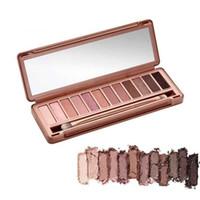 makyaj 12 renk göz farı toptan satış-Yeni Marka Ücretsiz kargo 12 Pigment Zengin renkler Makyaj Göz farı göz farı paleti
