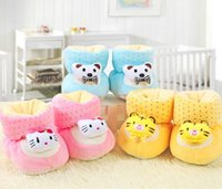Wholesale Tiger Shoes Wholesale - Newborn Baby Cotton Boots Shoes Cartoon Bear Tiger Cat Thick Warm Baby Toddler Shoes Suitable 0-6 months Little Baby In Autumn and Winter