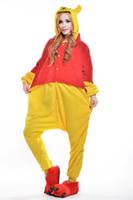 Wholesale Pooh Kigurumi Pajamas - Winnie the Pooh Adult Halloween Unisex Pyjamas Adult Unisex Sleepwear Adult Mascot Unisex Sleepwear Cheshire Adult Kigurumi Pajamas