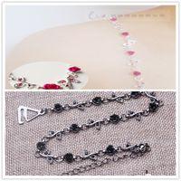 Wholesale Black Bra Red Roses - SEXY ROSE bra strap, 1pairs lot HOTSALE bra strap, adjustable bra accessories