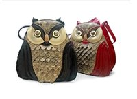 Wholesale Owl Handbag Backpack - Popular Fashion female bag Factory direct sale Delicate manual restoring ancient ways The owl bag backpack Women's handbag The new tide