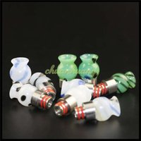 Wholesale Tips For E Cigs - Top Selling 510 Drip Tips Glass Wide Bore Drip Tips Drip Tips Wide dripper drip tips for e cigs RBA RDA Atomizers Tanks