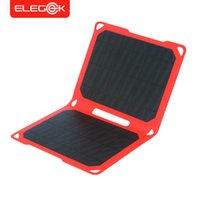 Wholesale Super Slim Phones - ELEGEEK 10W Portable Solar Panel Charger Super Slim Waterproof ETFE Solar Cell with Dual USB Output for iPhone and Android Phone