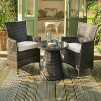 Wholesale Outdoor Rattan Dining Sets - coffee table and chair,Cafe 3pc Patio Furniture Set Outdoor Wicker Rattan Garden Sofa,Outdoor PE dining room rattan wicker table and chair