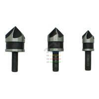 """Wholesale Carbon Oxides - Free shipping 3pcs 5 Flute 90 Dgree Black Oxide Countersink Drill Bit Set Chamfer Tool Wood End Mills 1 2"""" 5 8"""" 3 4"""" order<$18no track"""