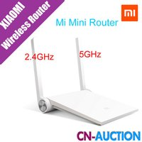 Wholesale Ac Band Router - Xiaomi Router Mini MI Router Smart Router White Black Dual-band 2.4GHz 5GHz Maximum 1167Mbps Support Wifi 802.11 AC