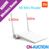 blanc wi fi achat en gros de-Xiaomi Router Mini MI Routeur Smart Routeur Blanc Noir Double bande 2.4GHz / 5GHz Maximum 1167Mbps Support Wifi 802.11 AC