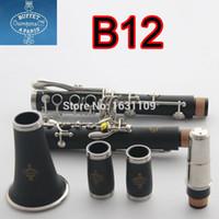 Wholesale Bakelite Resin - Wholesale-New Buffet Clarinet B12 Professional 17 Key Bb Clarinet Klarinet Bakelite Nickel Plated Klarnet Musical Instrument Accessories