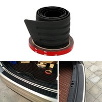 Wholesale Rear Bumper Guard Protector - Car Bumper Protector Rear Trunk Sill Plate Guard Anti-collision Auto Rubber Mouldings SUV Trim Cover Decoration Car-styling