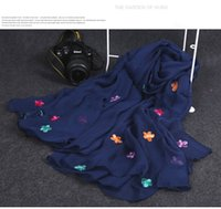 ingrosso pashminas blu-Classico blu navy bel design pashmina sciarpe moda lunga scialle di pashmina autunno inverno adatto sciarpe di pashmina all'ingrosso