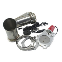 "Wholesale Electric Exhaust Kit - PQY STORE- 3"" Stainless Steel Headers Electric Exhaust CutOut Kit with Remote control 3inch Exhuast cutout PQY5295-30"