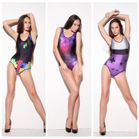 Wholesale Sexy One Piece Female Swimsuit - Sexy Swimsuit Was Yhin Tight Bathing Wear Fashion Female Swimming Suit Sexy Breathable 3D Print Swim Sets Quick Dry Black geometric LNSst