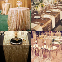 Wholesale Pink Table Cloths - Great Gatsby Custom Made Sequined Wedding Accessories For Tables and Chairs Several Colors High Quality Wedding Decorations