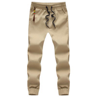 Wholesale Kids Zipper Ties - Hot Selling Spring Autumn Mens Joggers Pants Casual Solid Ankle-tied Youths Men Trousers Kids Pants Ankle-Length (Asian Size)