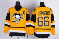 Wholesale Nhl Jersey Number - 66 Mario Lemieux 2016 Stanley Cup Final Mitchell & Ness Yellow Jersey NHL Pittsburgh Penguins Ice Hockey NHL Stitched Name Number Jerseys