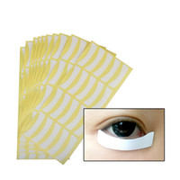 Wholesale making sticker labels - 10Set 100Pairs set Under Eye Pads Patches Eye Lash Extension Graft Eyelash Sticker Private Label Eyelid Protector Grafting Tool H009