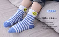 Wholesale Cute Socks For Kids - 5 Pair lot Cute Cartoon Geometrical Pattern Baby Kids Socks Soft Cotton Children's Girls Boys Socks Suitable For 1-10 Year
