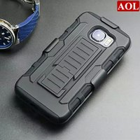Wholesale Galaxy S4 Silicone - For Samsung Galaxy S6  edge S5 S4 S3 Note4 Note3 Note2 Future Armor Impact Hybrid Hard Case Cover +Belt Clip Holster Kickstand Combo