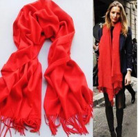 Wholesale Cheap Winter Wool Scarves - 2016 Women Tassel Scarf Autumn Winter Korean Tippet Wool Spinning Fashion Multicolor Cheap All-match Comfortable Classic Hot
